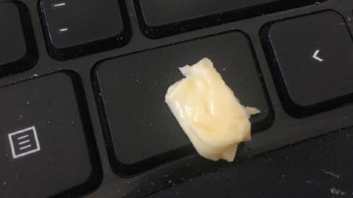 Butter auf einer Tastatur
