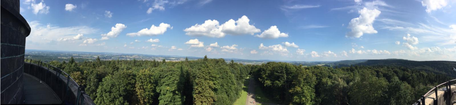 Panoramablick vom Hermannsdenkmal