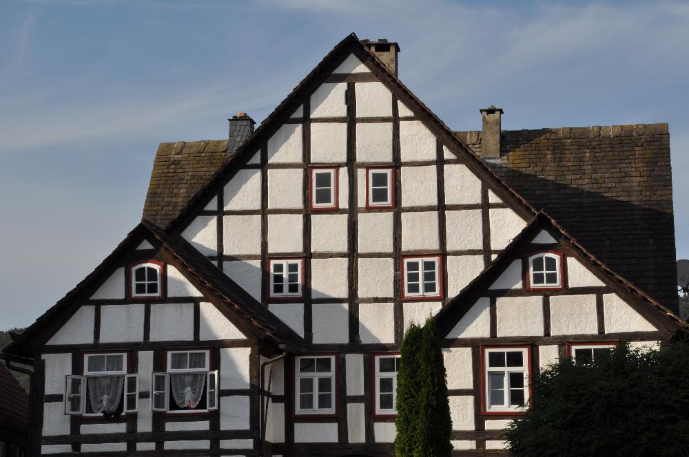 Schwalenberg: Ein Fachwerkgebäude