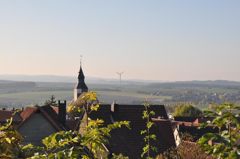 Schwalenberg: Eine Kirchturmspitze