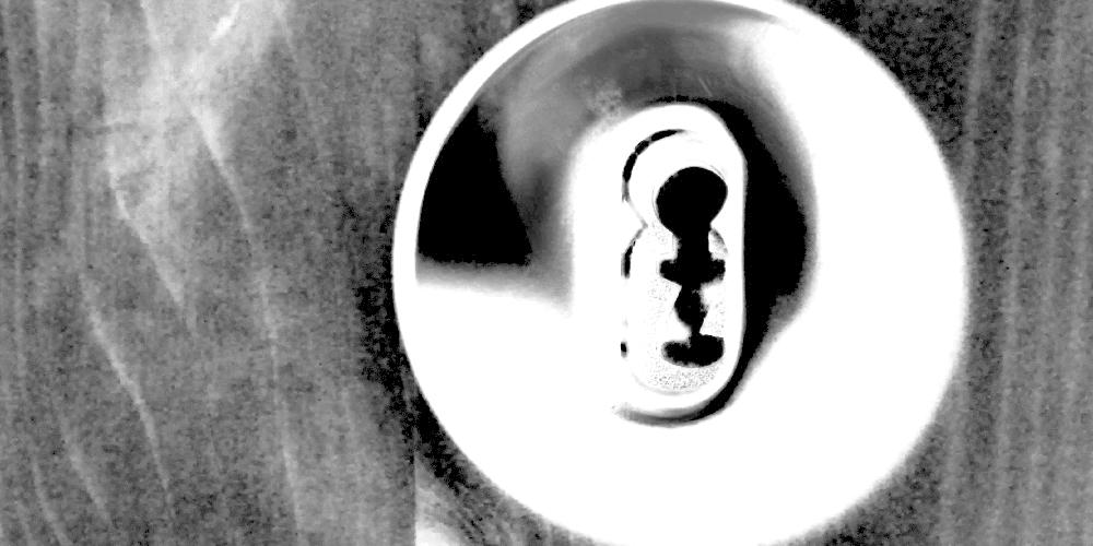 Ein Schlüsselloch