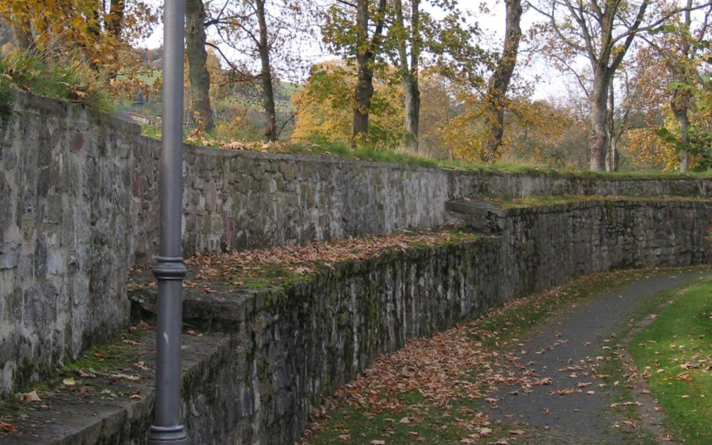Die Stadtmauer von Lügde