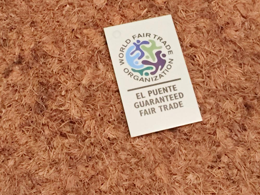 Fußmatte mit Fairtrade-Logo