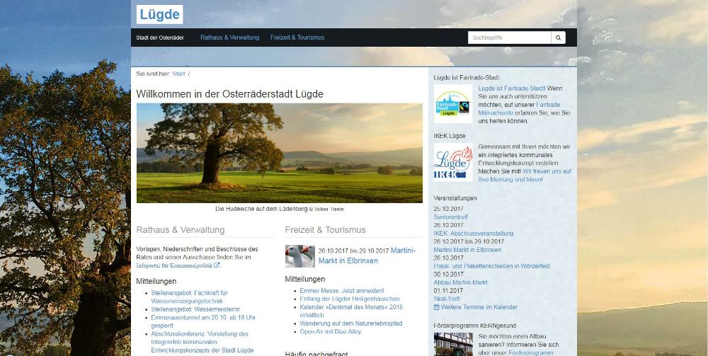 Startseite von luegde.de, Screenshot
