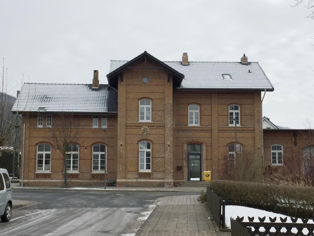 Das Lügder Bahnhofsgebäude