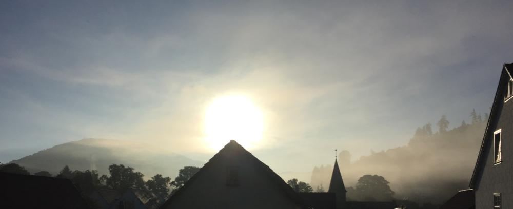 Ein Sonnenaufgang in Lügde