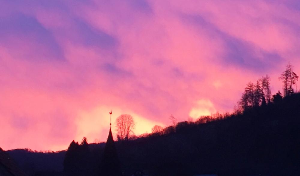 Ein dramatischer Sonnenaufgang