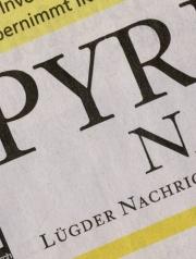 Ein Stück eingescannte Zeitung mit dem Schriftzug Lügder Nachrichten