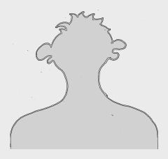 Der Umriss eines männlichen Kopfes