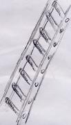 Eine skizzierte Leiter