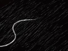 Eine Grafik - Schwarzer Hintergrund, im Vordergrund eine weiße Linie
