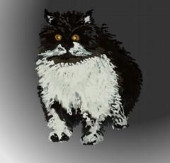 Grafik - eine Katze