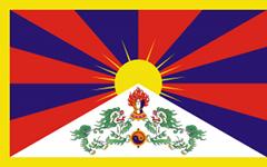 Die Flagge von Tibet
