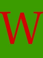 Eine Grafik - darauf der Großbuchstabe W