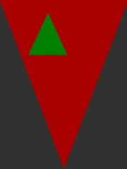 Zwei verschieden große und verschieden farbige Dreiecke