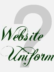 Eine Grafik mit dem Text - Website Uniform ?