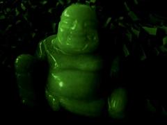 Ein kleine Buddha-Statue