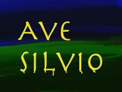 Grafik mit den Wörtern: Ave Silvio