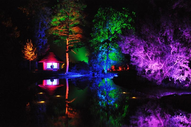 Beleuchteter Kurpark