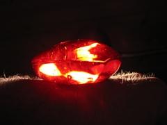 Ein rotes, leuchtendes Etwas