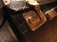 Ein Detailfoto von einem Koffer