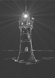 Skizze von einem Leuchtturm