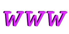 Grafik mit den Buchstaben www