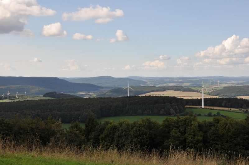 Blick vom Köterberg in Richtung Herlingsburg.
