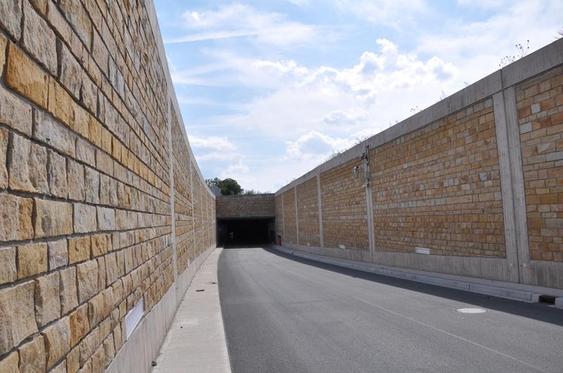 Nördliche Tunneleinfahrt der Umgehungsstraße Lügde