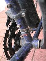 Ein Detailfoto von einem Fahrrad