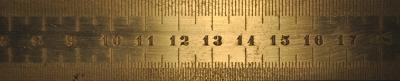 Foto: Ein Ausschnitt von einem Lineal