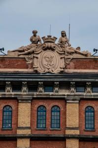 Der Dachfirst der Stadtbücherei in Hameln