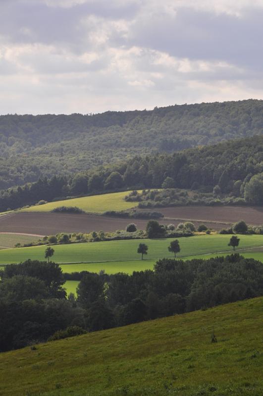 Berge, Wiesen und Felder