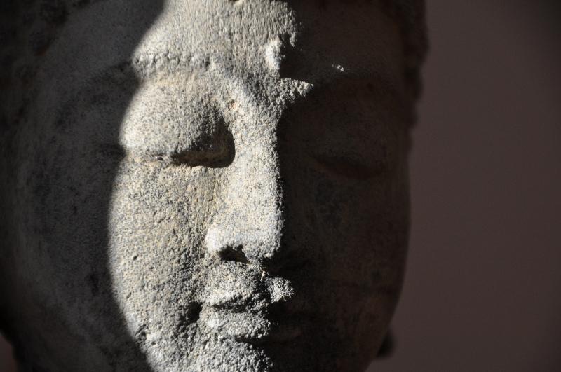 Kopf einer Buddha-Statue