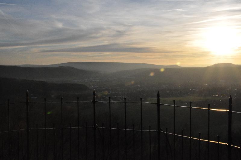 Ein Blick in ein Tal
